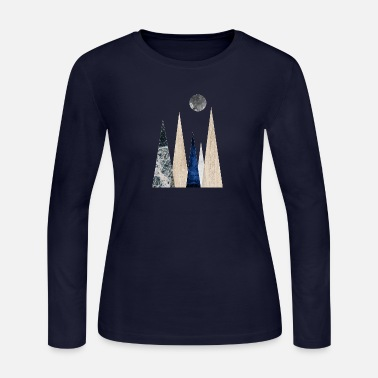 Scene Scandi mountain scene - Women's Jersey Longsleeve Shirt