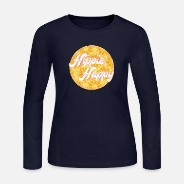 Happy Happy Hippie T-Shirt Present - Women's Jersey Longsleeve Shirt