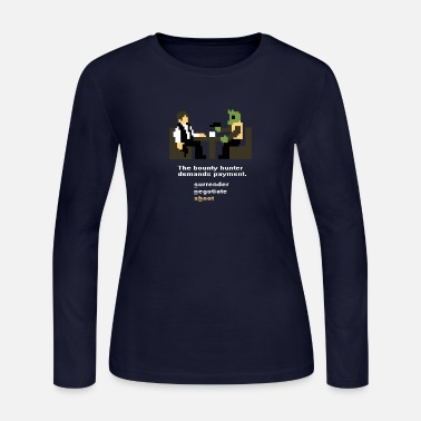 Shot Han and Greedo 8-Bit - Women's Jersey Longsleeve Shirt