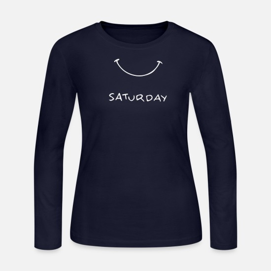 Movie Long-Sleeve Shirts - Saturday - Women's Jersey Longsleeve Shirt navy