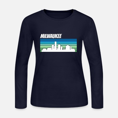 Milwaukee Retro Milwaukee Skyline - Women's Jersey Longsleeve Shirt