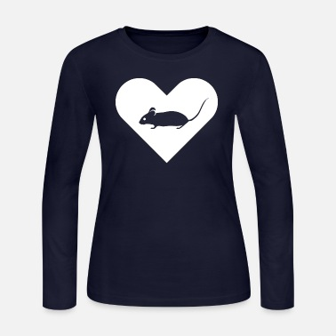 Heart-Mouse (white) - Women's Jersey Longsleeve Shirt