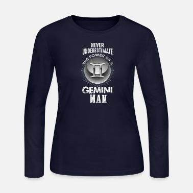 Gemini Man Never Mess With Gemini Man - Women's Jersey Longsleeve Shirt