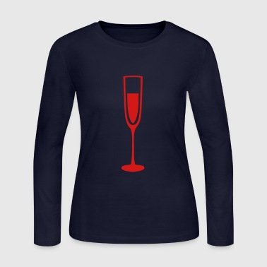 glass champagne flute glass crystal - Women's Long Sleeve Jersey T-Shirt