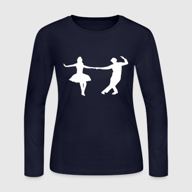 dancing couple - Women's Long Sleeve Jersey T-Shirt