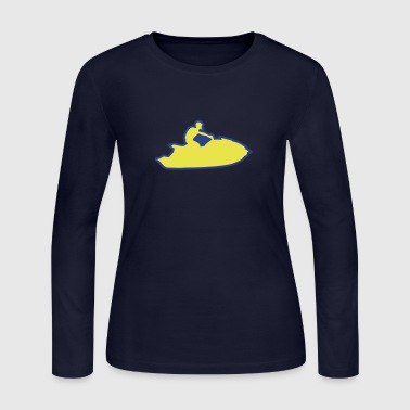 jet ski freestyle drawing traces 1 - Women's Long Sleeve Jersey T-Shirt