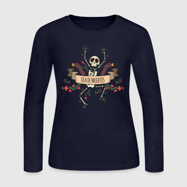 Sugar Skeleton - Day of the Dead - Women's Long Sleeve Jersey T-Shirt