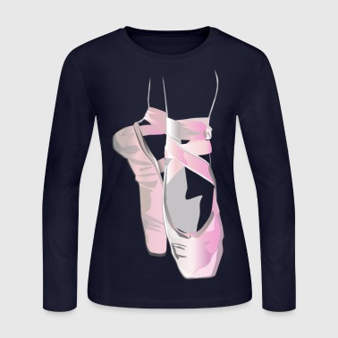 Ballet Dancer Ballerina Shoes T-shirt - Women's Long Sleeve Jersey T-Shirt