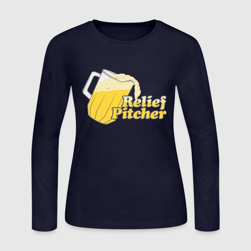 Relief Pitcher Beer Irish - Women's Long Sleeve Jersey T-Shirt