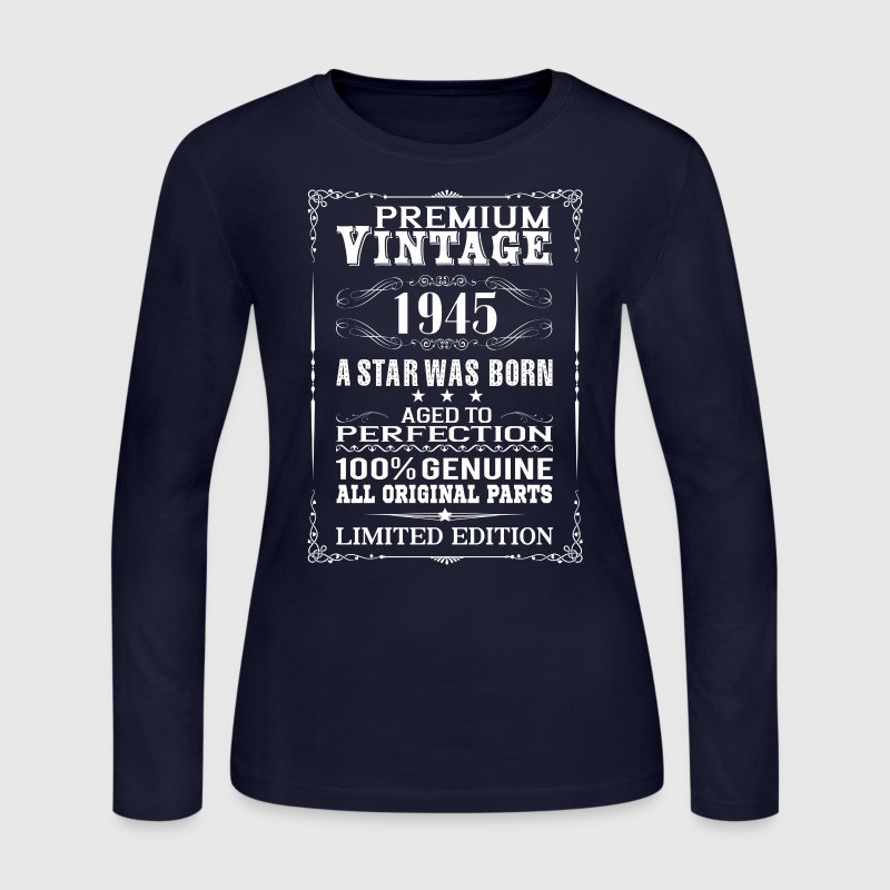PREMIUM VINTAGE 1945 - Women's Long Sleeve Jersey T-Shirt