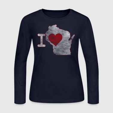 Wisconsin I Heart Wisconsin Milwaukee Clothing Apparel - Women's Long Sleeve Jersey T-Shirt