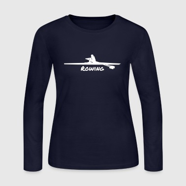 Rowing woman - Women's Long Sleeve Jersey T-Shirt