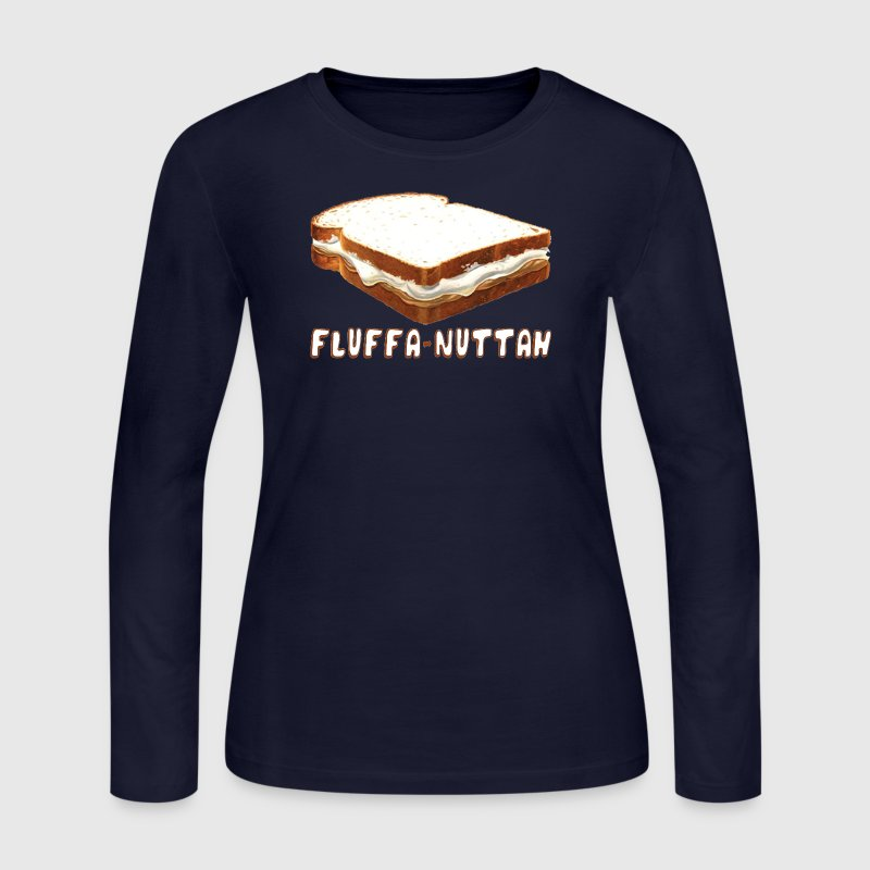 Funny Boston Fluff Fluffa Nuttah Parody Tee Shirt - Women's Long Sleeve Jersey T-Shirt
