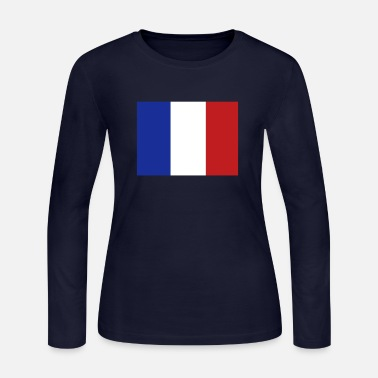 French Flag French Flag - Women's Long Sleeve Jersey T-Shirt