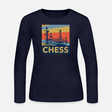 Chess Board Chess Board - Women's Long Sleeve Jersey T-Shirt