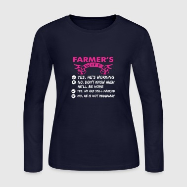 Farmers Wife Farmers Wife Yes Hes Working - Women's Long Sleeve Jersey T-Shirt