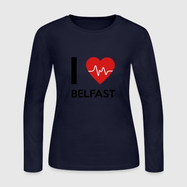 Belfast I Love Belfast - Women's Long Sleeve Jersey T-Shirt