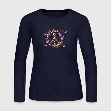 flower power peace (DDP) - Women's Long Sleeve Jersey T-Shirt