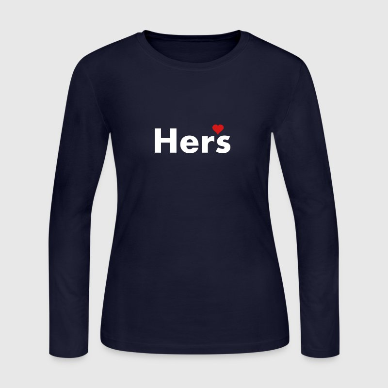 Hers - part of his and hers set - Women's Long Sleeve Jersey T-Shirt