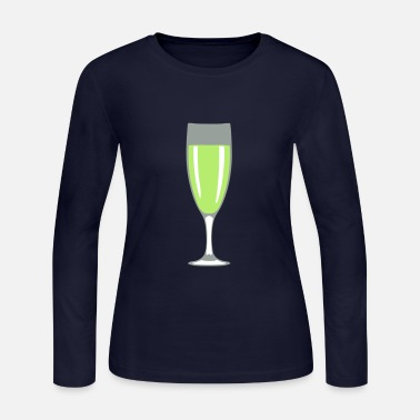 Champagne-glass 1307 glass champagne flute - Women's Long Sleeve Jersey T-Shirt