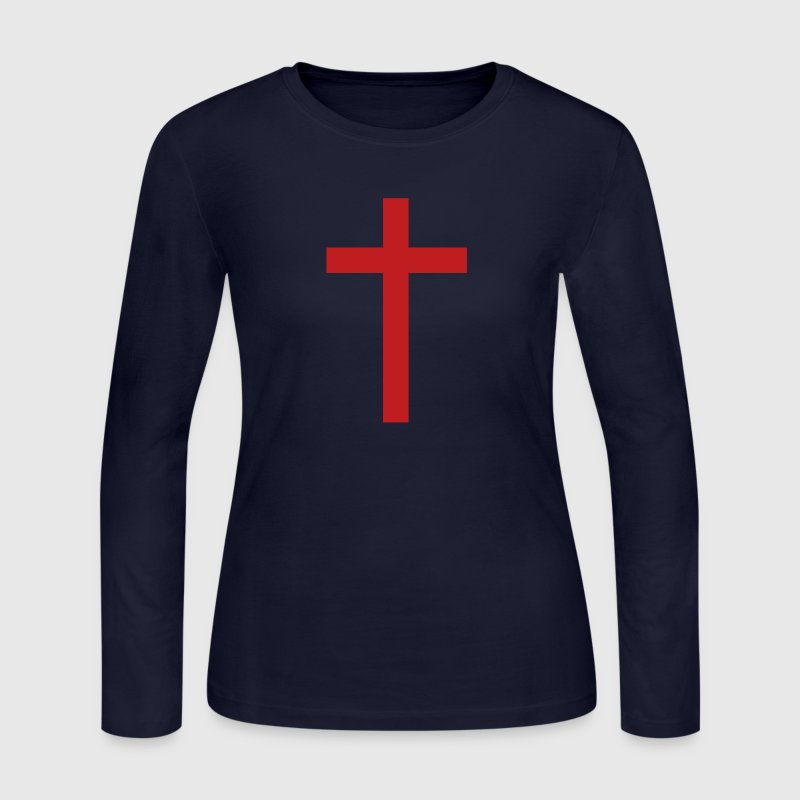 Simple Cross - Women's Long Sleeve Jersey T-Shirt