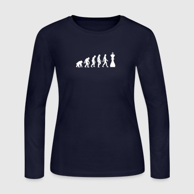The Evolution Of Chess - Women's Long Sleeve Jersey T-Shirt