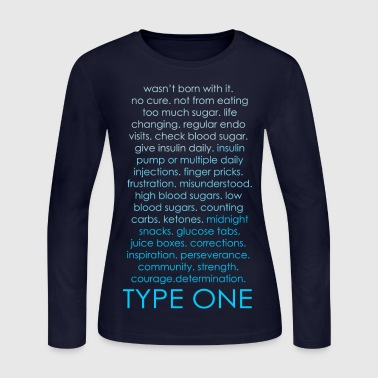 The Inspire Collection - Type One - Blue - Women's Long Sleeve Jersey T-Shirt