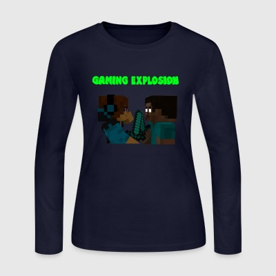Gaming Explosion Herobrine vs Smooth__YT - Women's Long Sleeve Jersey T-Shirt