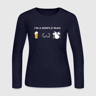 simple man like boobs bier beer titten DRUMMER SCH - Women's Long Sleeve Jersey T-Shirt