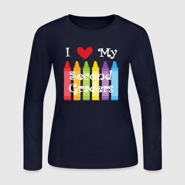 second grade teacher - Women's Long Sleeve Jersey T-Shirt