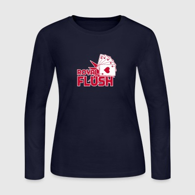 Royal Flush Cards funny tshirt - Women's Long Sleeve Jersey T-Shirt