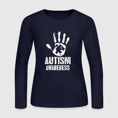 Autism Hand Puzzle Awareness - Women's Long Sleeve Jersey T-Shirt