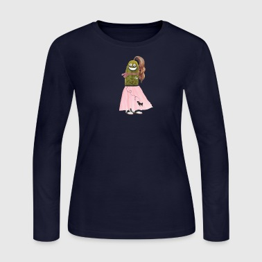 Poodle Skirt Pickle - Women's Long Sleeve Jersey T-Shirt