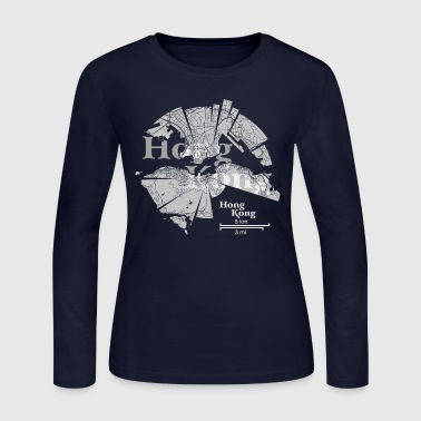 Hong Kong Map - Women's Long Sleeve Jersey T-Shirt