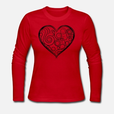 Black Heart BLACK HEART - Women's Long Sleeve Jersey T-Shirt