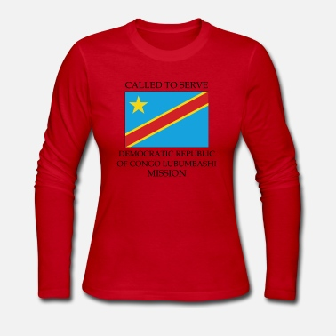 Congo Democratic Republic of Congo Lubumbashi Mission - Women's Long Sleeve Jersey T-Shirt
