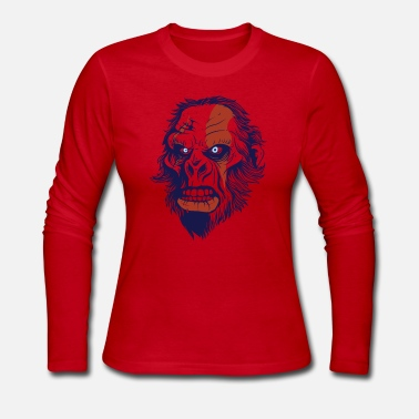 Primitive Man T-Shirt primitive neanderthal head vector image - Women's Jersey Longsleeve Shirt
