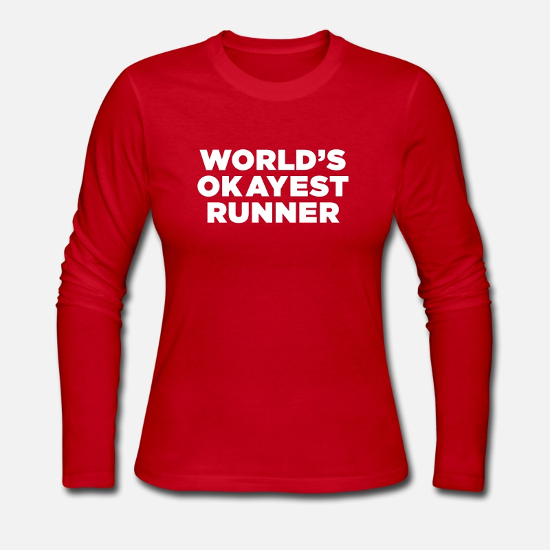 Cross Country Long sleeve shirts - World's Okayest Runner - Women's Jersey Longsleeve Shirt red