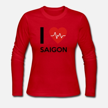 Ho Chi Minh City I Love Saigon - Women's Jersey Longsleeve Shirt