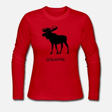 Giraffe Wrong Moose Giraffe - Women's Long Sleeve Jersey T-Shirt