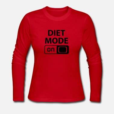 diet mode on - Women's Long Sleeve Jersey T-Shirt