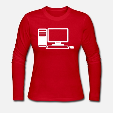 Computer Game Computer Gaming - Women's Long Sleeve Jersey T-Shirt