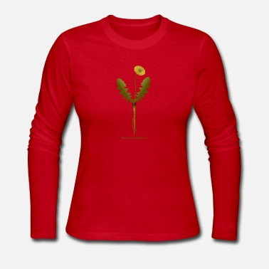 Medicine Dandelion as Food and Medicine - Women's Long Sleeve Jersey T-Shirt