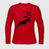 flying bats bat halloween scary creepy - Women's Long Sleeve Jersey T-Shirt