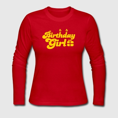 birthday girl new with present - Women's Long Sleeve Jersey T-Shirt