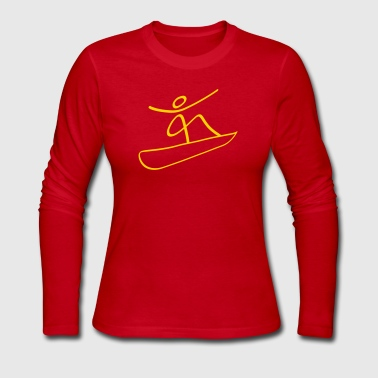 Extreme Snowboarding - Women's Long Sleeve Jersey T-Shirt