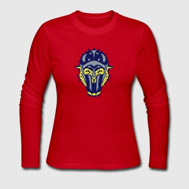 leopards wild animal gladiator helmet - Women's Long Sleeve Jersey T-Shirt