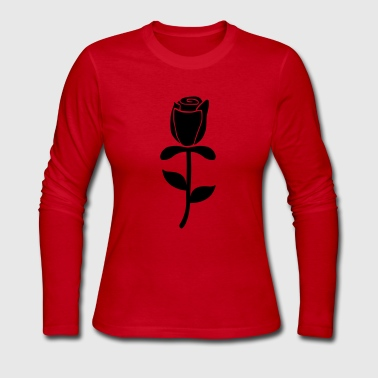 Rose - Women's Long Sleeve Jersey T-Shirt