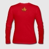 Canada Souvenir Autumn Maple Leaf Art  - Women's Long Sleeve Jersey T-Shirt