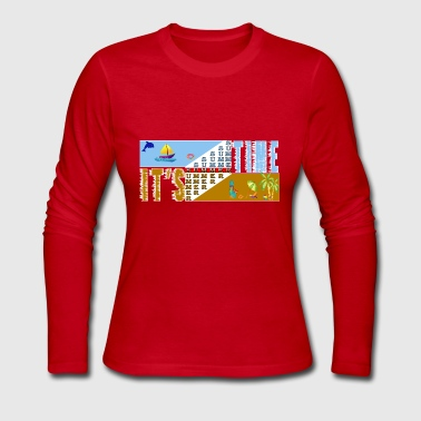 it's summertime - Women's Long Sleeve Jersey T-Shirt